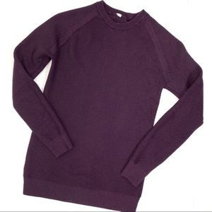 Lululemon Simply Wool Black Cherry Purple Sweater